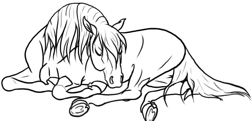 Раскраска лошадь 30
