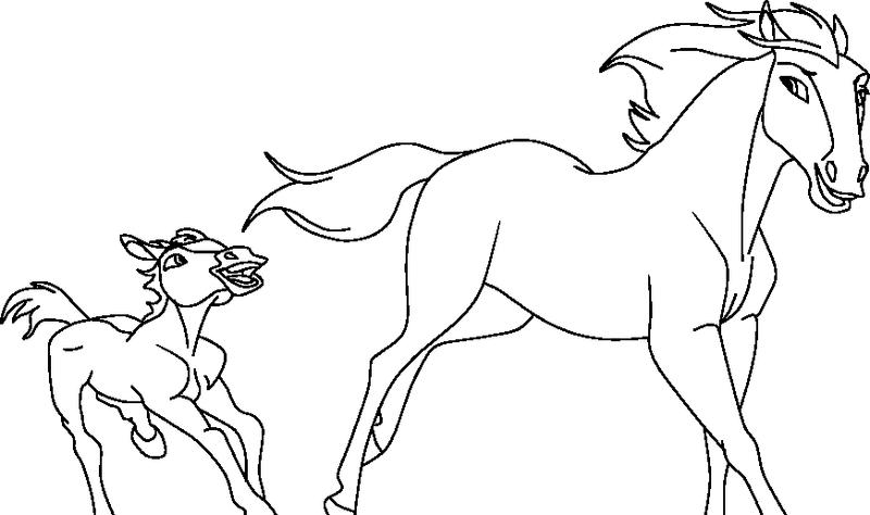 раскраска жеребёнок 29