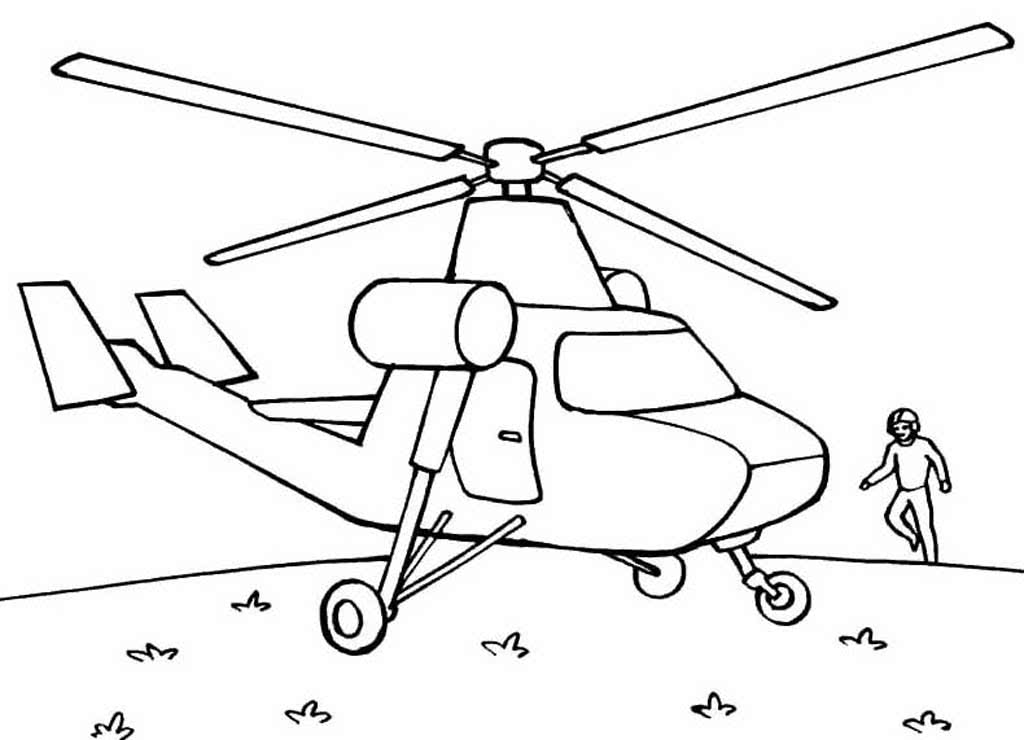 Раскраска вертолёт 17