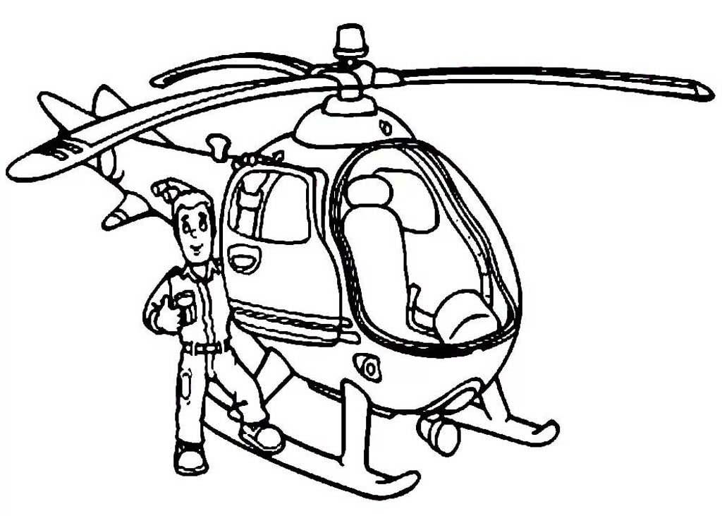 Раскраска вертолёт 19