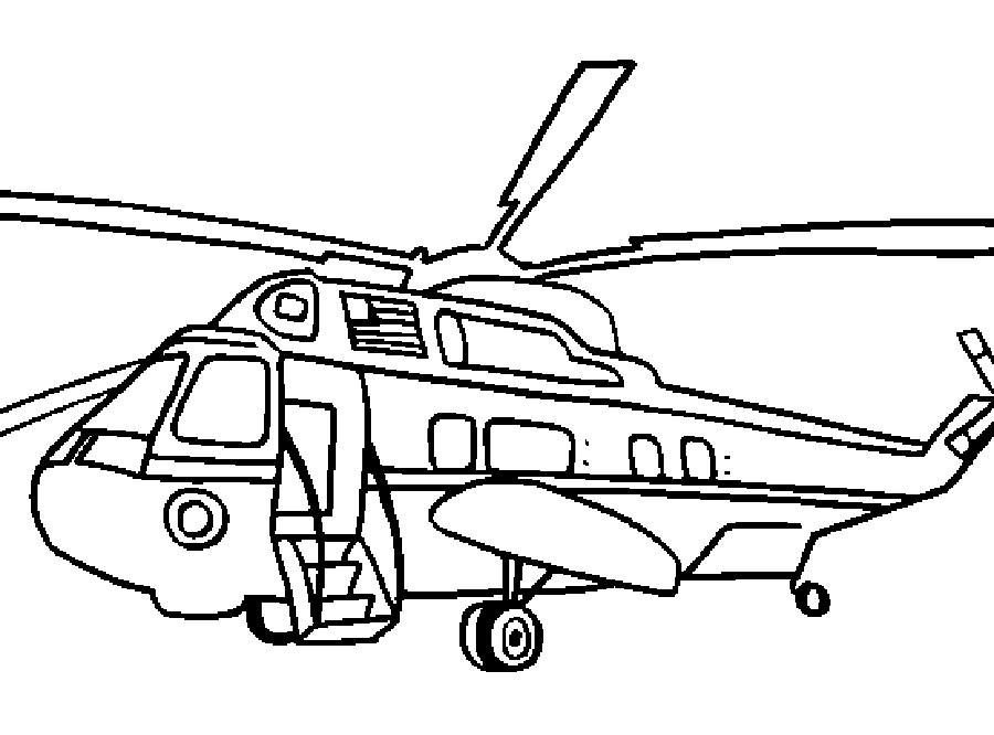 Раскраска вертолёт 20
