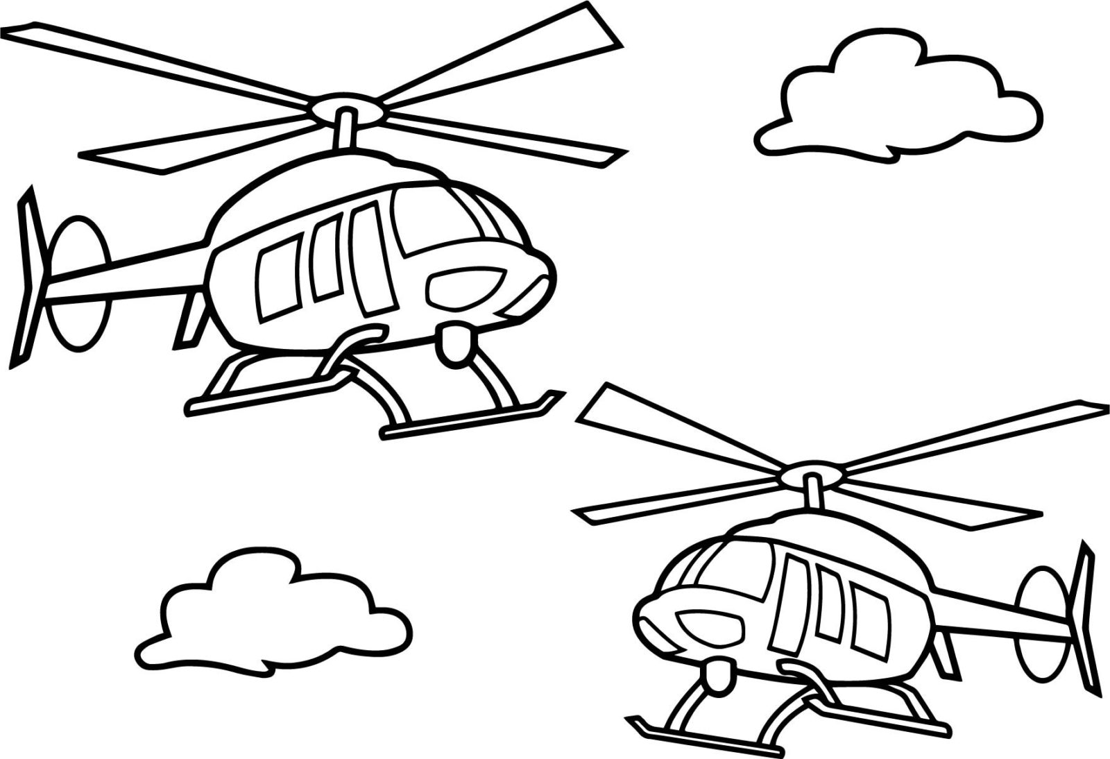Раскраска вертолёты