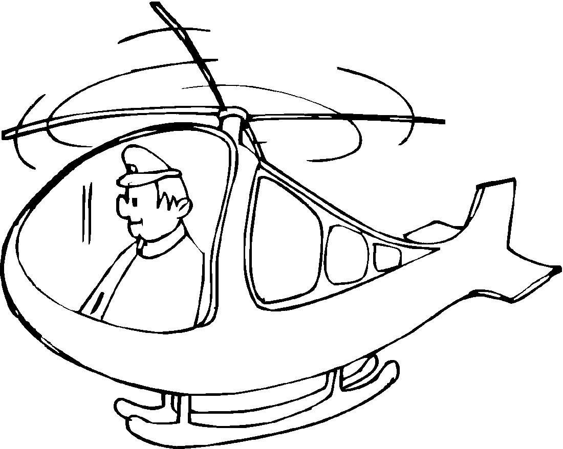раскраска вертолёт 14