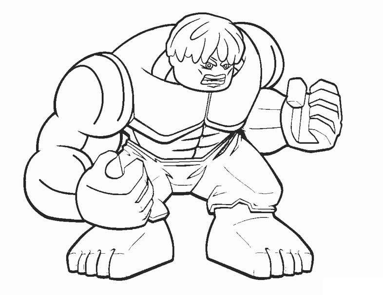 Раскраска лего Халк 3