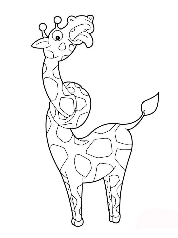 Раскраска жираф 30