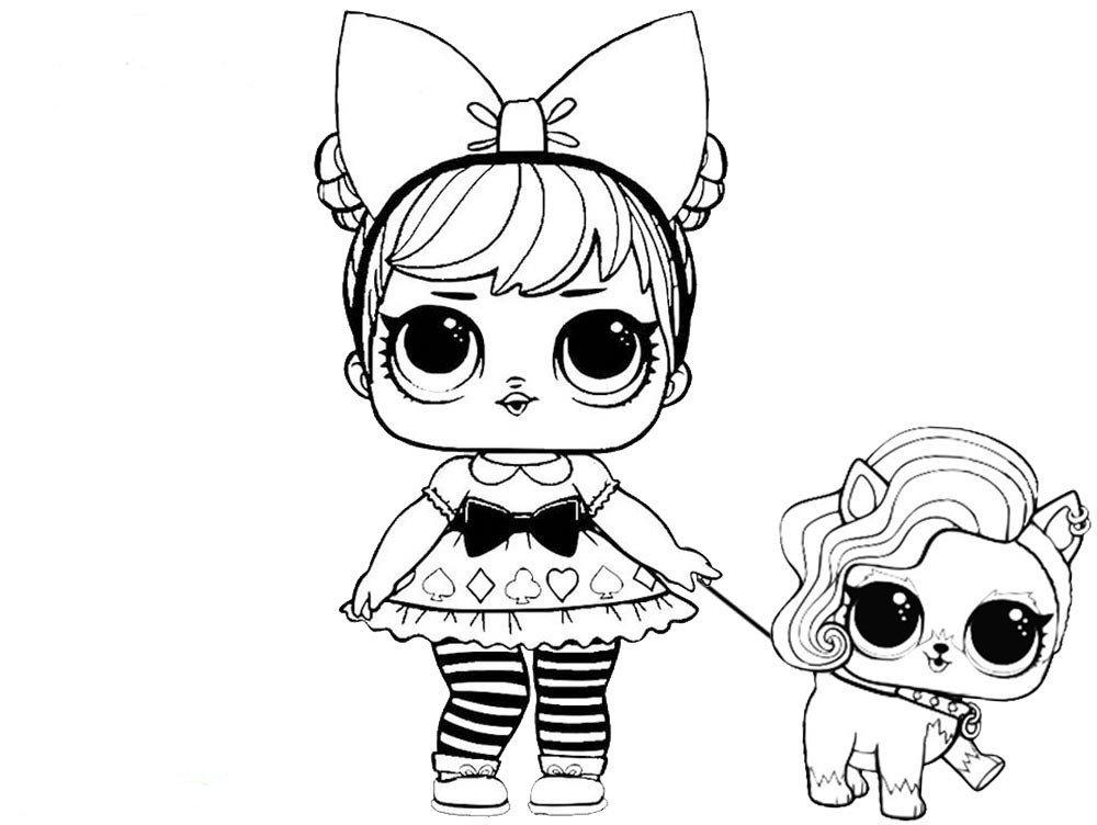 раскраска кукла Лол 30