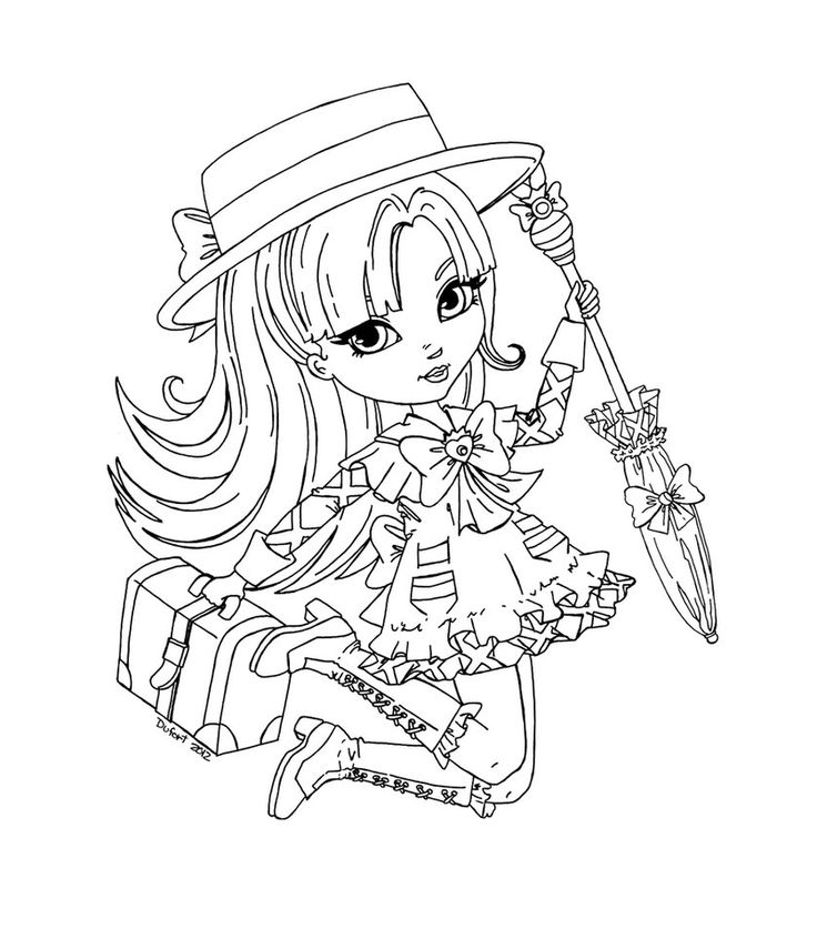 Раскраска кукла Пуллип
