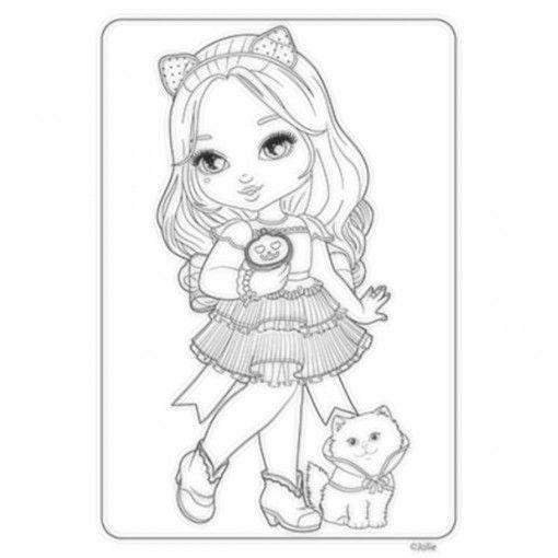 Раскраска кукла Блайз