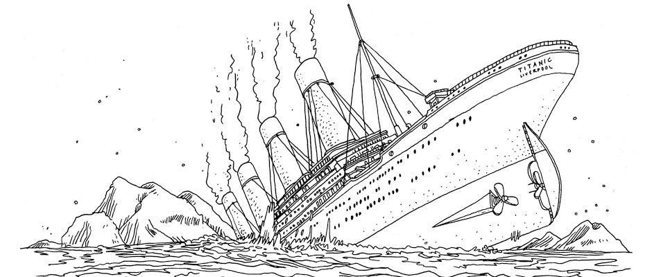 Титаник тонет 24