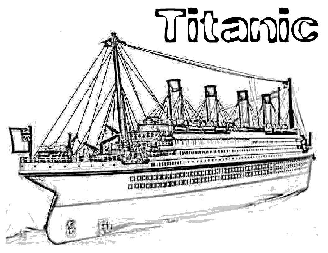 Раскраска Титаник