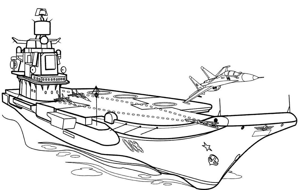 раскраска корабль 11