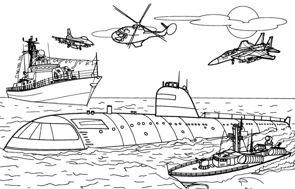 Раскраска корабли 3