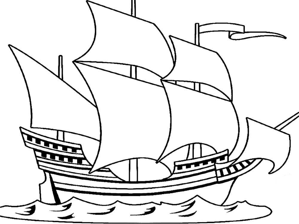 раскраска корабль 24