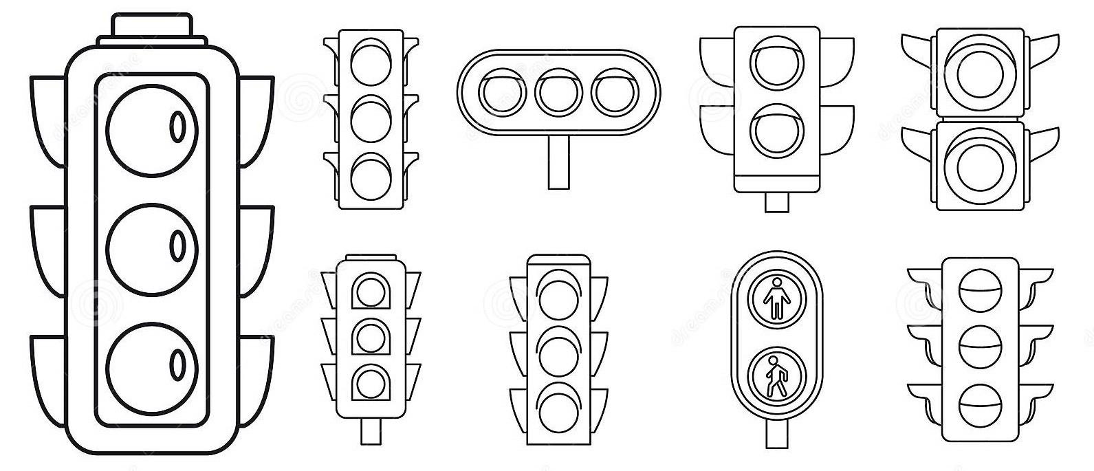 Раскраска светофоры