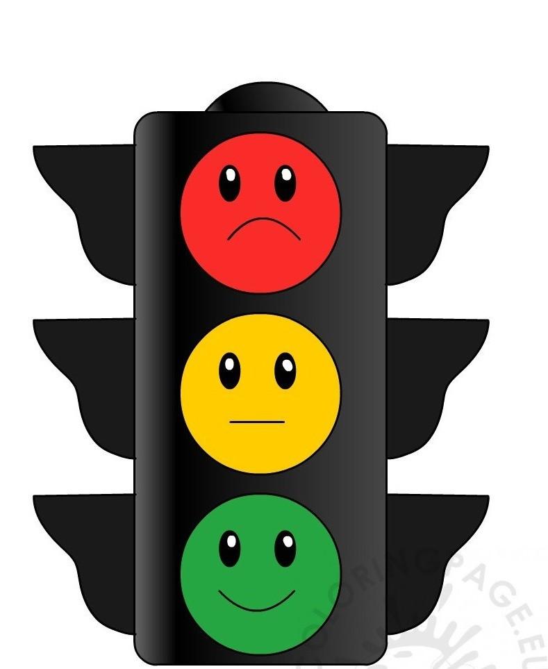 раскраска светофор 2