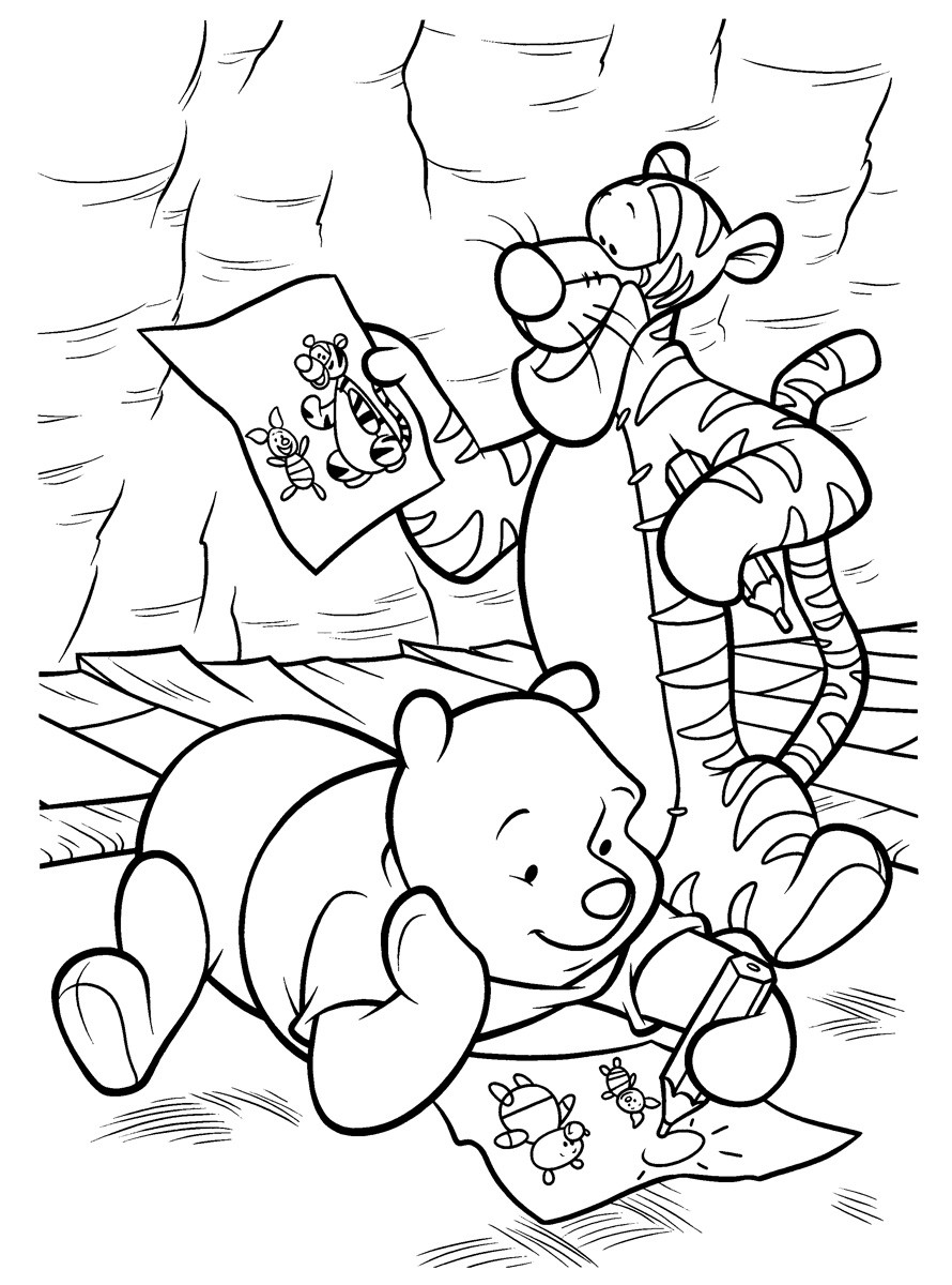 Раскраска Винни Пух 19