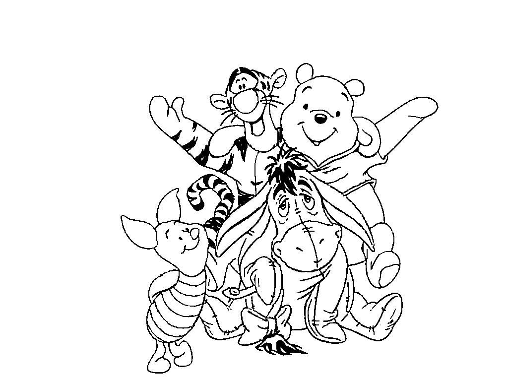 Раскраска Винни Пух 10