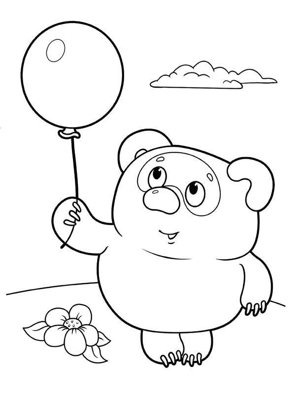 Раскраска Винни Пух 28