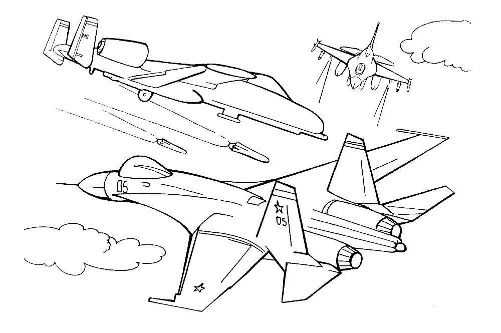 Раскраска самолёты 8