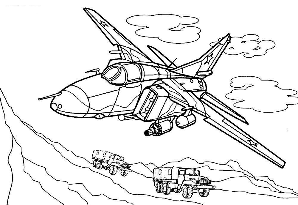 раскраска самолёт 25
