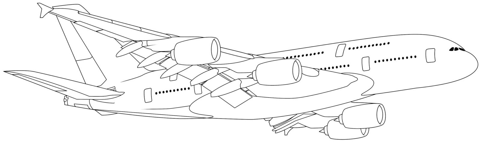 Раскраска самолёт пассажирский