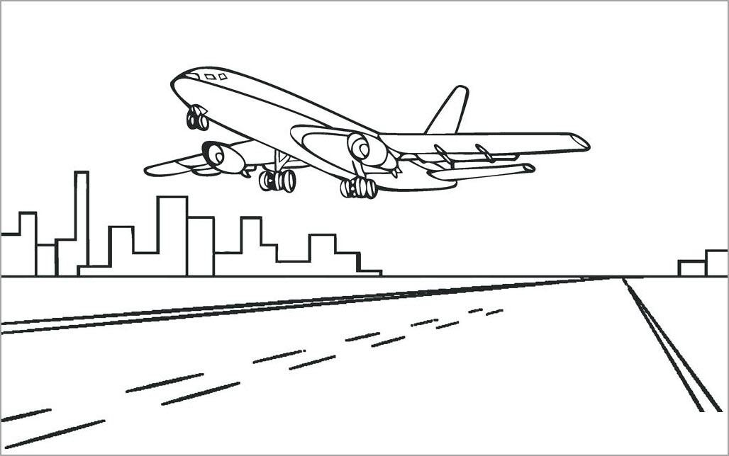 раскраска самолёт 12