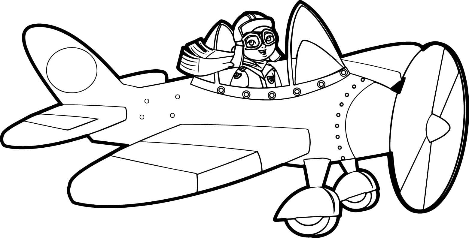 Раскраска самолётик 12