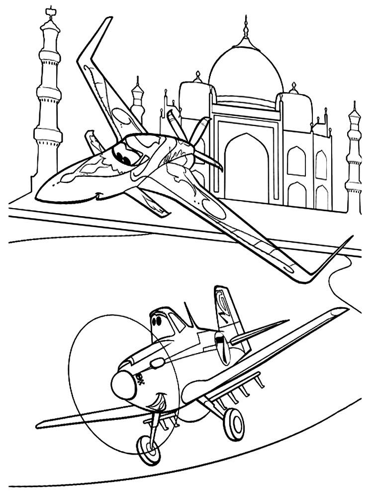 раскраска самолёты 11