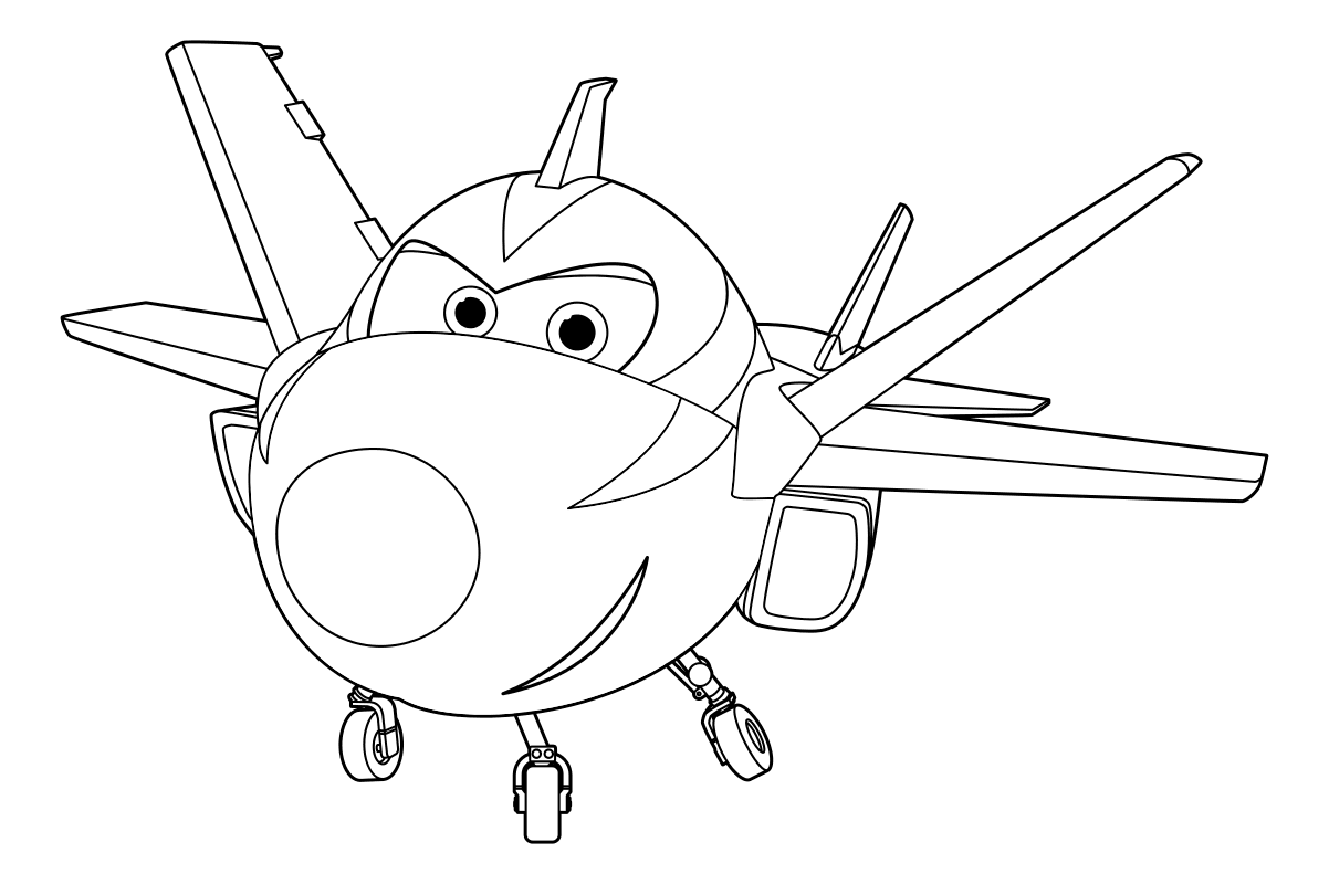 Раскраска самолётик 4
