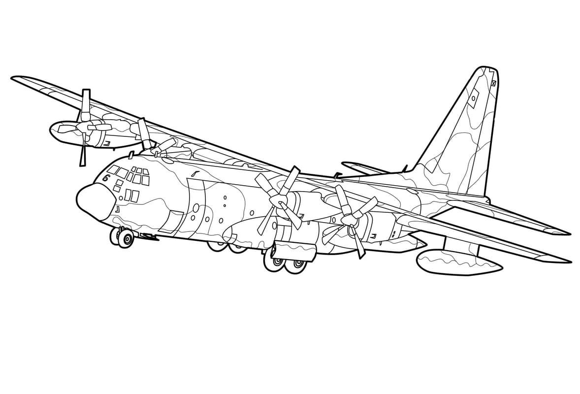 Раскраска самолёт 28