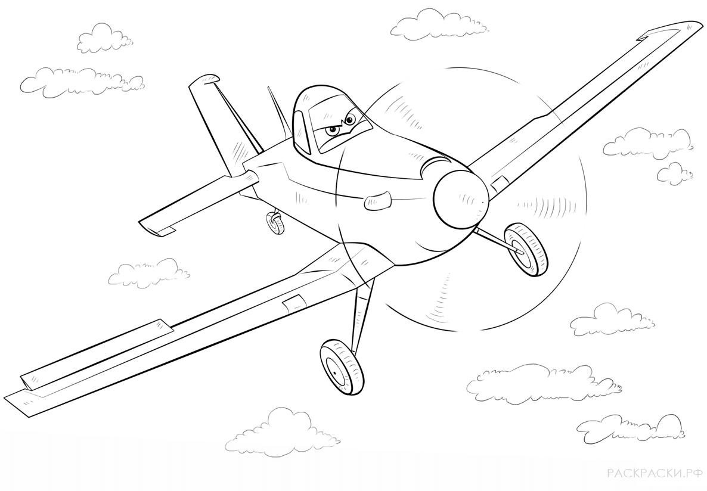 Раскраска самолёт 11