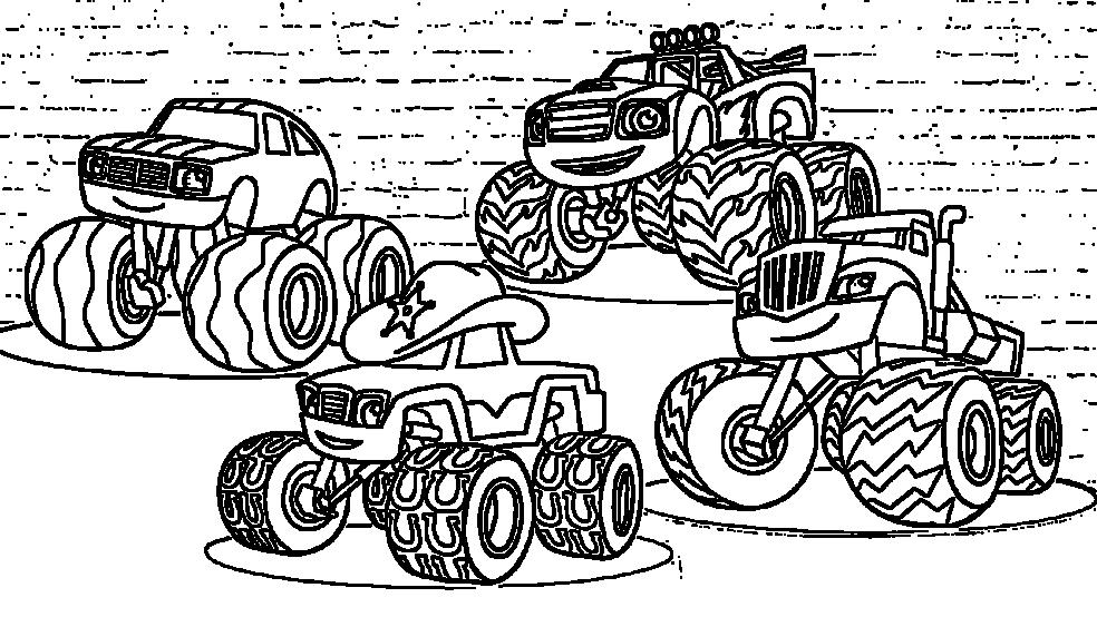 Разукрашка Вспыш и чудо машинки 4