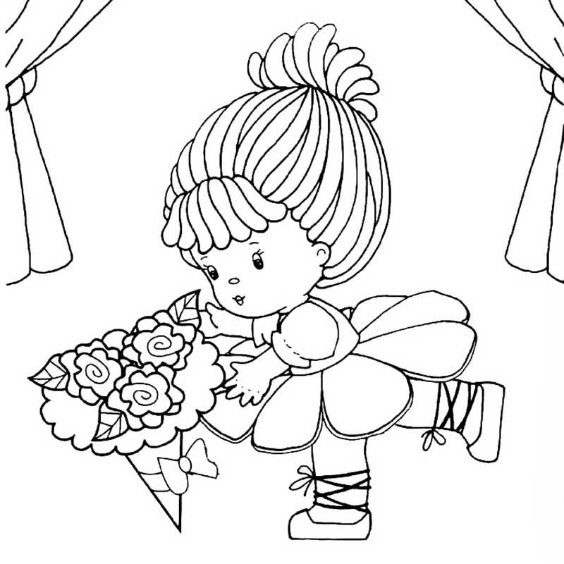 Кукла с цветами 66