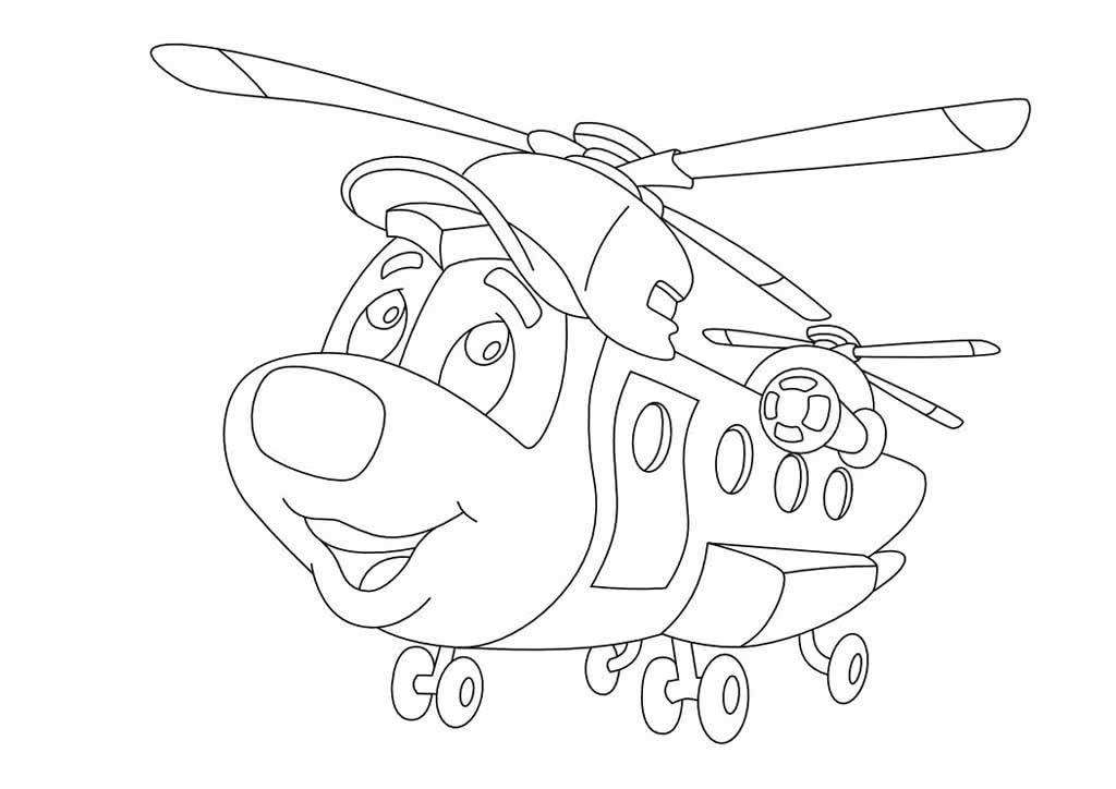 мультяшный вертолёт 4
