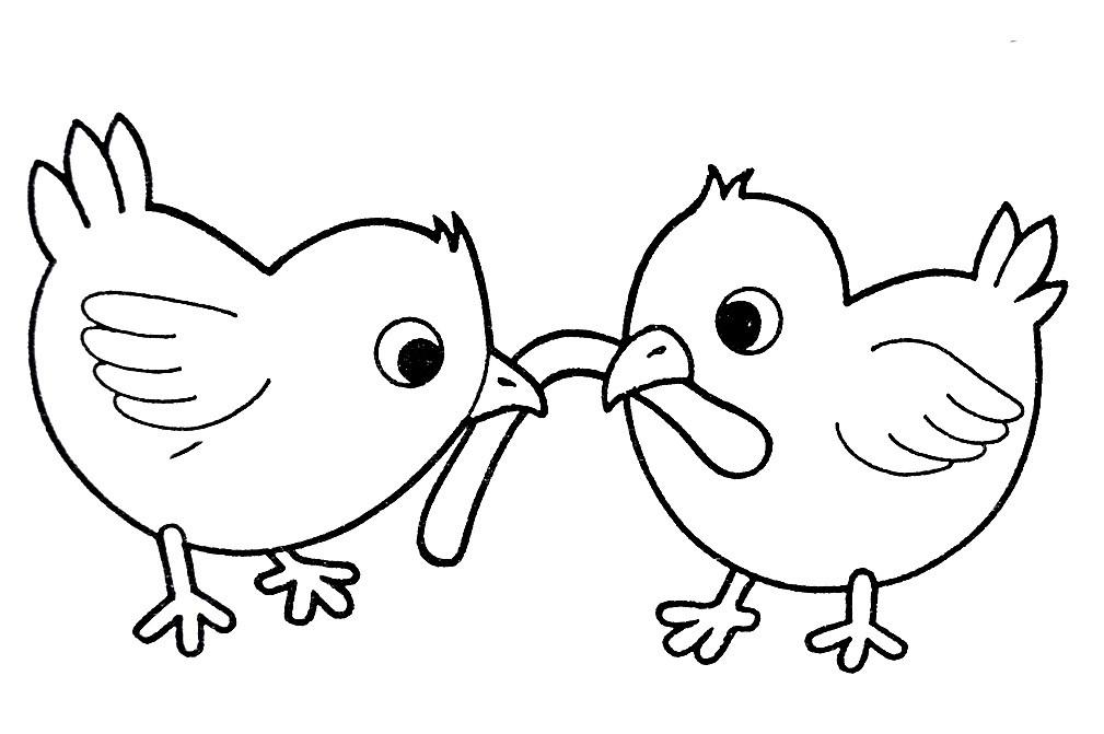 Раскраска цыплята 5