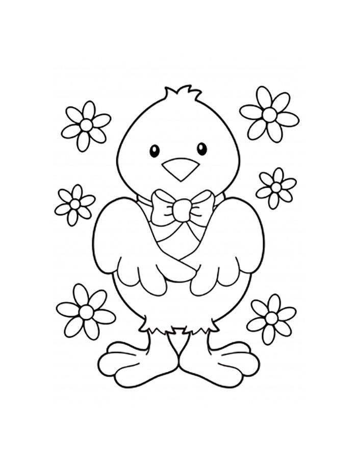 Раскраска цыплёнок 35