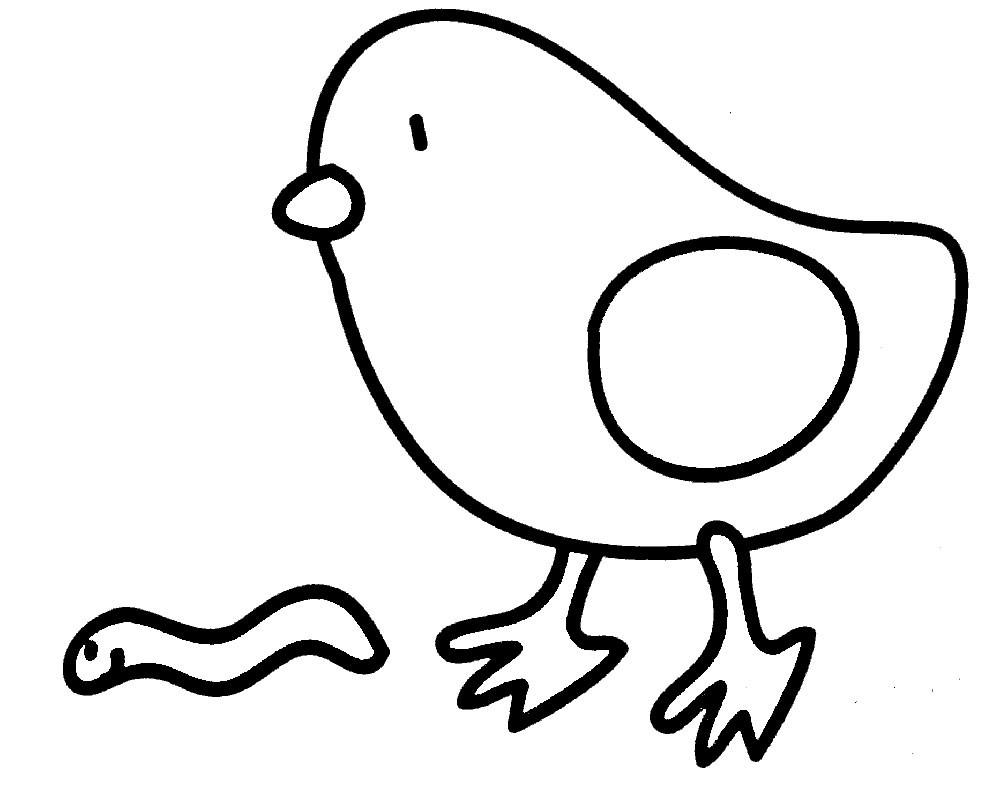 Раскраска цыплёнок 10