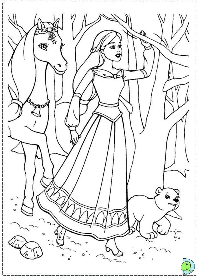 Раскраска Барби 128