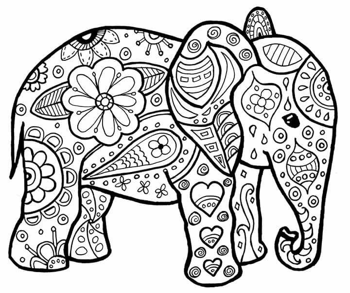 раскраска слонёнок 28