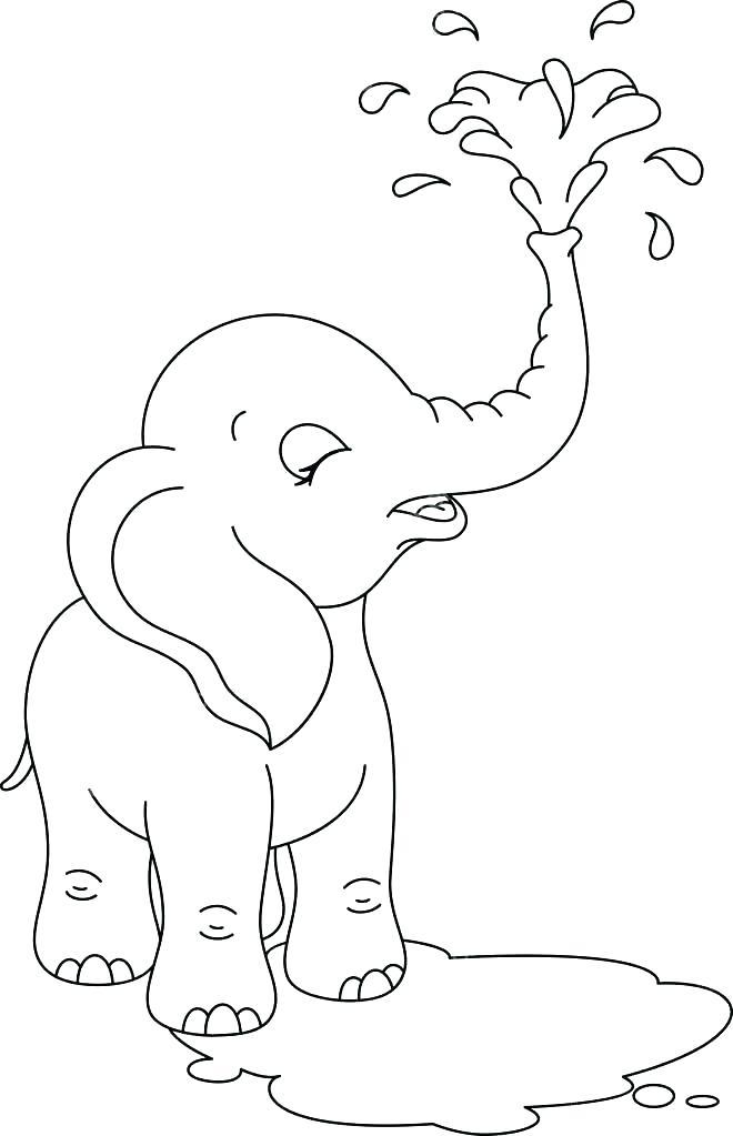 раскраска слонёнок 31