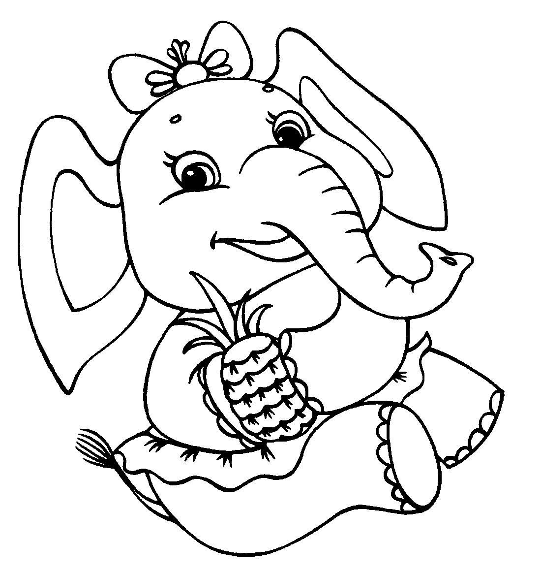 раскраска слонёнок 21