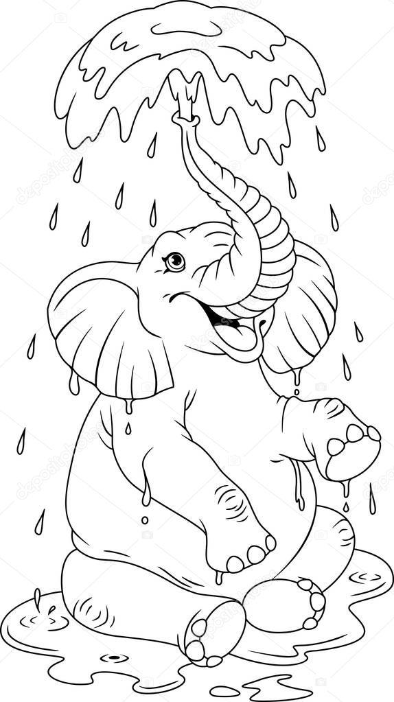Раскраска слон 25