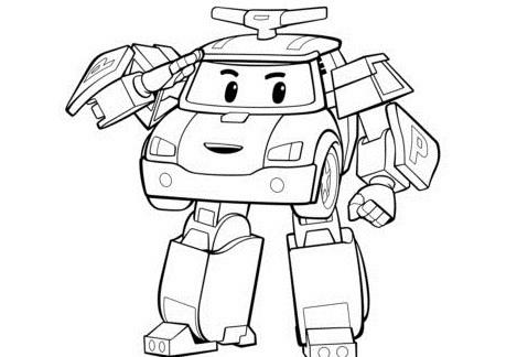 Раскраска робокар Поли 2