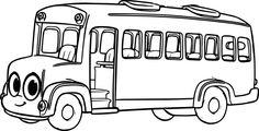 Раскраска автобус 100