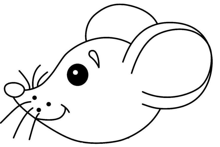 раскраска мышка 11