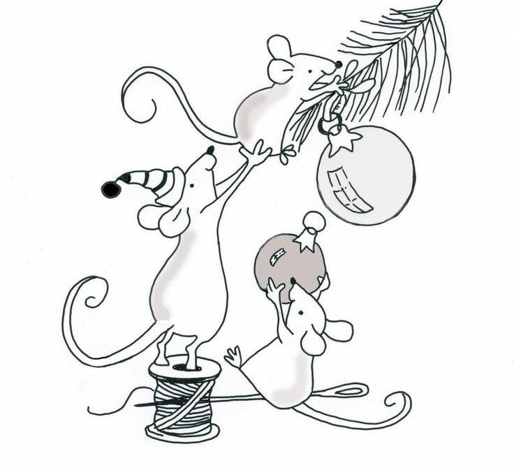Раскраска мыши