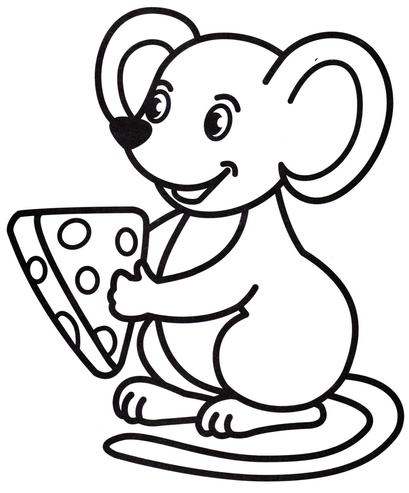 Раскраска мышь 13