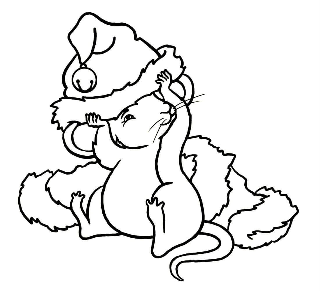 Раскраска мышка 21