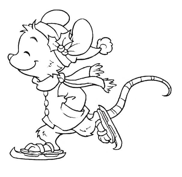 Раскраска мышка 19