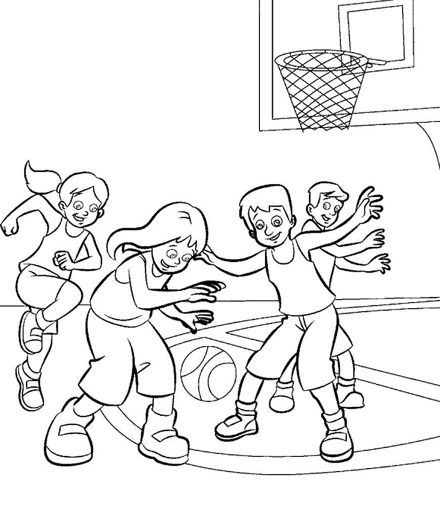 баскетбол с детьми